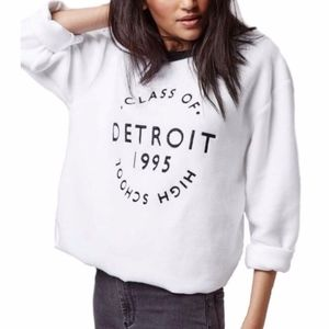Topshop CLASS OF DETROIT HIGH SCHOOL Crewneck